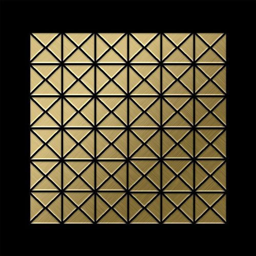 Mosaik Fliese massiv Metall Titan gebürstet in gold 1,6mm stark ALLOY Deco-Ti-GB 0,92 m2 – Bild 3