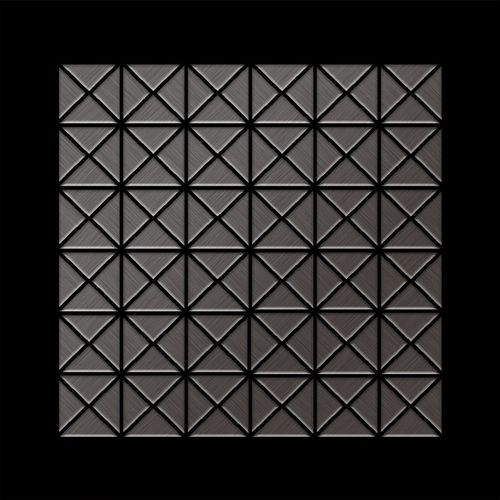 Mosaïque métal massif Carrelage Titane brossé Smoke gris foncé Grosseur 1,6mm ALLOY Deco-Ti-SB 1 m2 – Bild 3