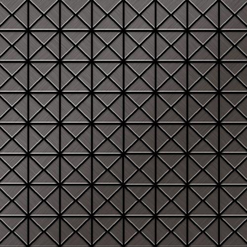 Mosaïque métal massif Carrelage Titane brossé Smoke gris foncé Grosseur 1,6mm ALLOY Deco-Ti-SB 1 m2 – Bild 1