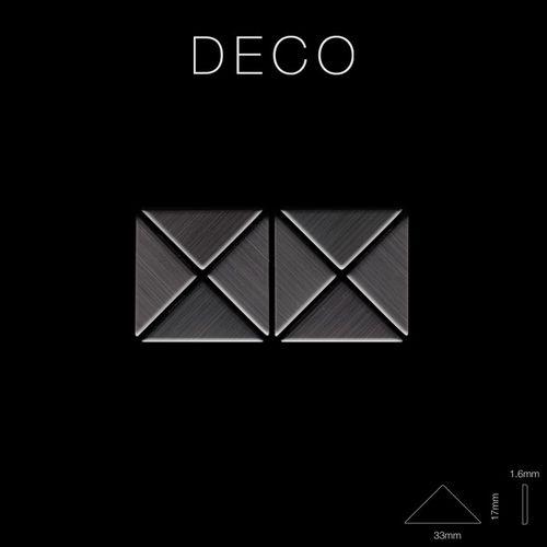 Mosaico metallo solido Titanio spazzolato Smoke grigio scuro spesso 1,6 mm ALLOY Deco-Ti-SB – Bild 2