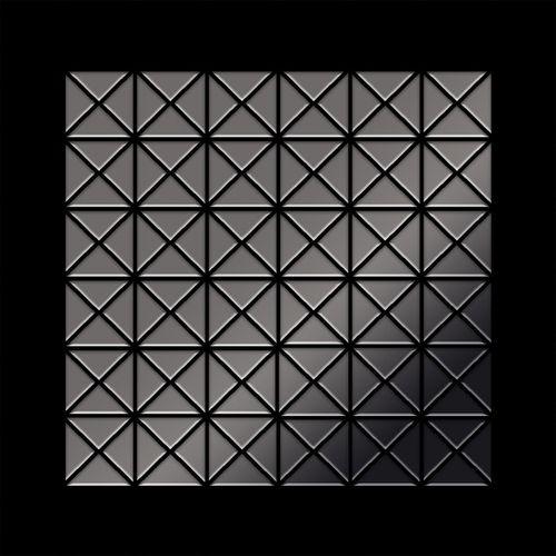 Mosaik Fliese massiv Metall Titan hochglänzend in dunkelgrau 1,6mm stark ALLOY Deco-Ti-SM 0,92 m2 – Bild 3