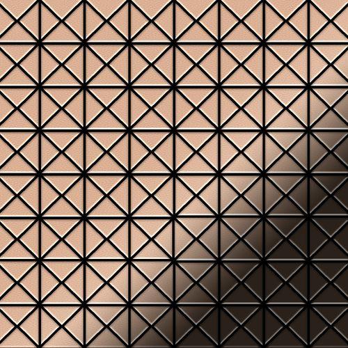 Mosaik Fliese massiv Metall Kupfer gewalzt in kupfer 1,6mm stark ALLOY Deco-CM 0,92 m2 – Bild 1