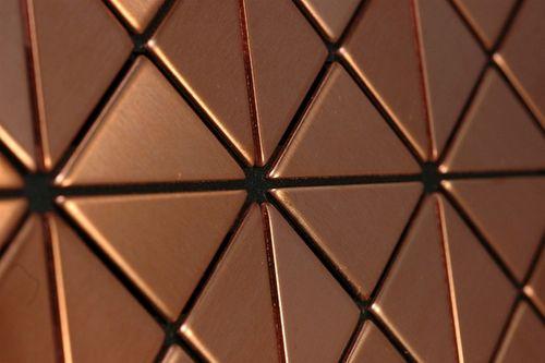 Mosaïque métal massif Carrelage Cuivre laminé cuivre Grosseur 1,6mm ALLOY Deco-CM 1 m2 – Bild 4