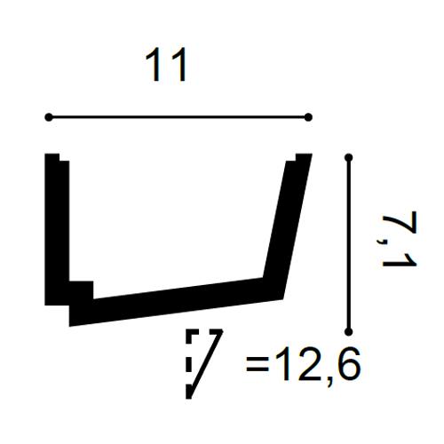 Stuck Zierleiste Orac Decor C357 LUXXUS Eckleiste für indirekte Beleuchtung Gesims Deckenleiste | 2 Meter – Bild 2