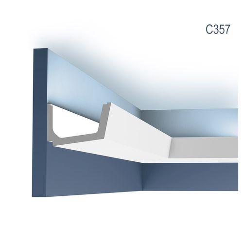 Stuck Zierleiste Orac Decor C357 LUXXUS Eckleiste für indirekte Beleuchtung Gesims Deckenleiste | 2 Meter – Bild 1