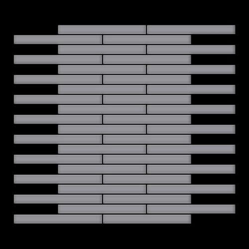 Mozaïektegels massief metaal roestvrij staal matglanzend grijs 1,6 mm dik ALLOY Deedee-S-S-MA – Bild 3