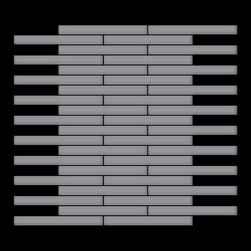 Azulejo mosaico de metal sólido Acero inoxidable mate gris 1,6 mm de grosor ALLOY Deedee-S-S-MA 0,63 m2 – Imagen 3