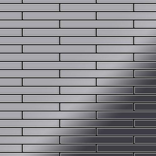 Azulejo mosaico de metal sólido Acero inoxidable Marine pulido espejo gris 1,6 mm de grosor ALLOY Deedee-S-S-MM 0,63 m2 – Imagen 1