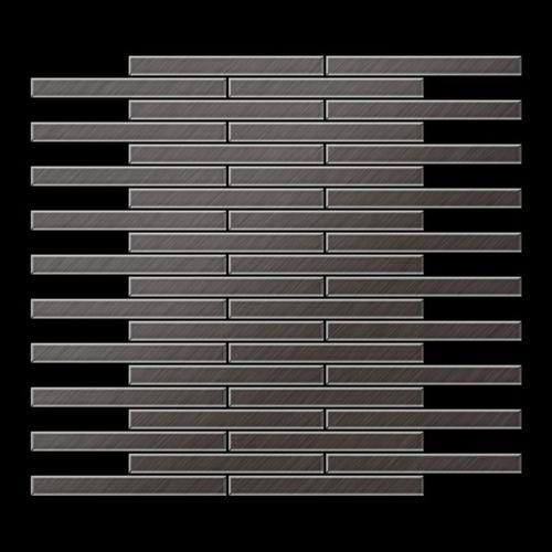 Mozaïektegels massief metaal titaan Smoke geborsteld grijs 1,6 mm dik ALLOY Deedee-Ti-SB – Bild 3