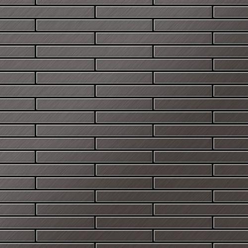Azulejo mosaico de metal sólido Titanio Smoke cepillado gris oscuro 1,6 mm de grosor ALLOY Deedee-Ti-SB 0,63 m2 – Imagen 1