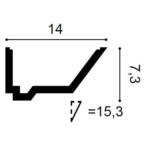 Stuckleiste für indirekte Beleuchtung C358 2m – Bild 2
