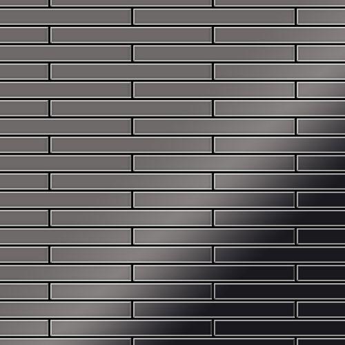 Mozaïektegels massief metaal titaan Smoke hoogglanzend grijs 1,6 mm dik ALLOY Deedee-Ti-SM – Bild 1