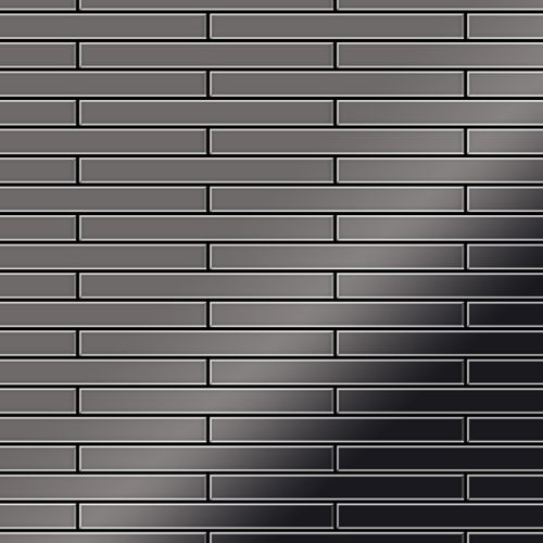 Azulejo mosaico de metal sólido Titanio Smoke espejo gris oscuro 1,6 mm de grosor ALLOY Deedee-Ti-SM 0,63 m2 – Imagen 1