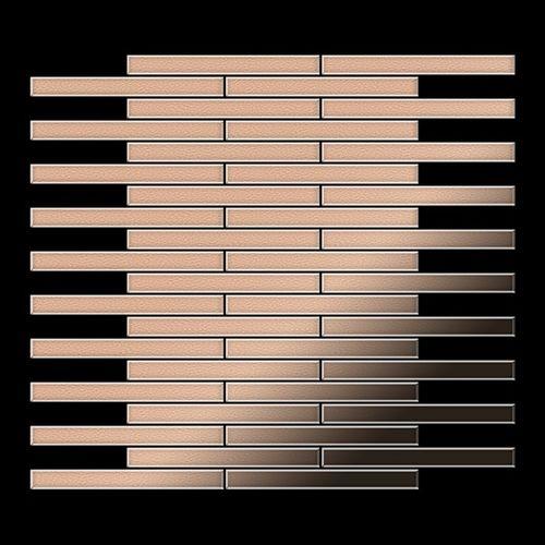 Azulejo mosaico de metal sólido Cobre laminado cobre 1,6 mm de grosor ALLOY Deedee-CM 0,63 m2 – Imagen 3