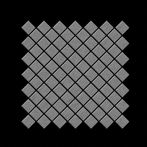 Azulejo mosaico de metal sólido Acero inoxidable cepillado gris 1,6 mm de grosor ALLOY Diamond-S-S-B 0,91 m2 – Imagen 3