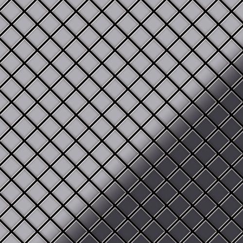 Azulejo mosaico de metal sólido Acero inoxidable pulido espejo gris 1,6 mm de grosor ALLOY Diamond-S-S-M 0,91 m2 – Imagen 1