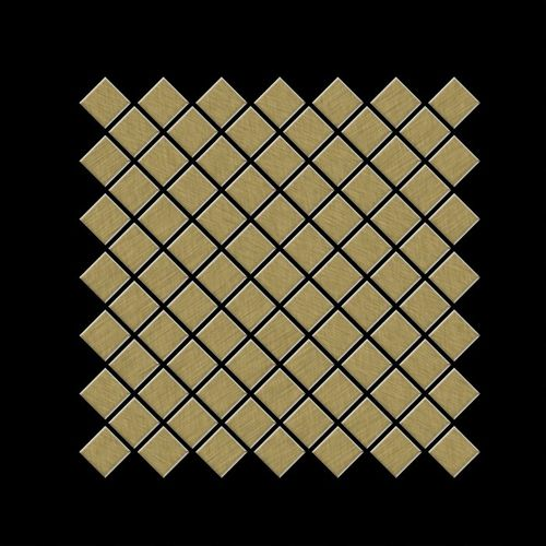 Mosaik Fliese massiv Metall Titan gebürstet in gold 1,6mm stark ALLOY Diamond-Ti-GB 0,91 m2 – Bild 3