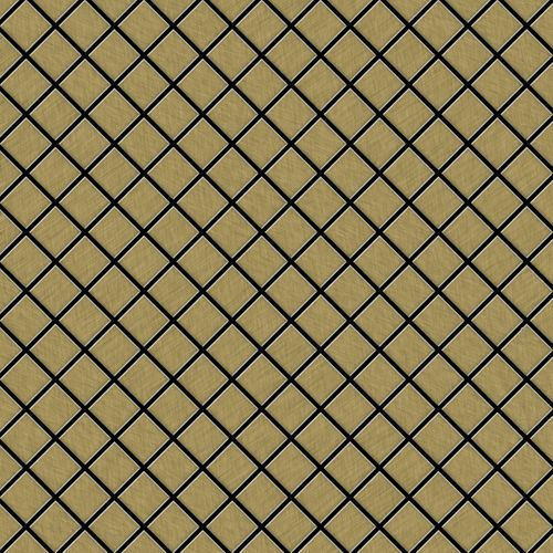 Mosaik Fliese massiv Metall Titan gebürstet in gold 1,6mm stark ALLOY Diamond-Ti-GB 0,91 m2 – Bild 1