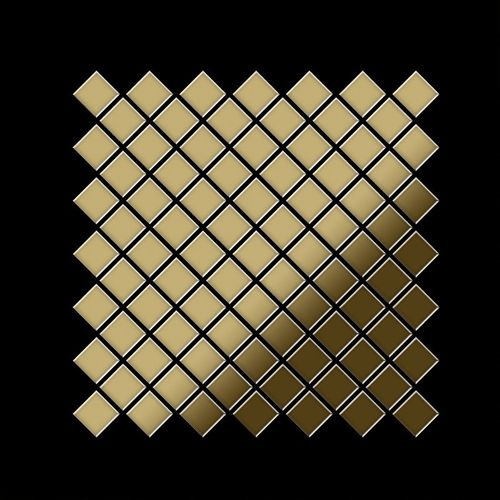 Mosaico metallo solido Titanio specchiato Gold oro spesso 1,6 mm ALLOY Diamond-Ti-GM – Bild 3