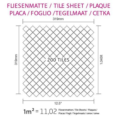 Azulejo mosaico de metal sólido Titanio Smoke espejo gris oscuro 1,6 mm de grosor ALLOY Diamond-Ti-SM 0,91 m2 – Imagen 5