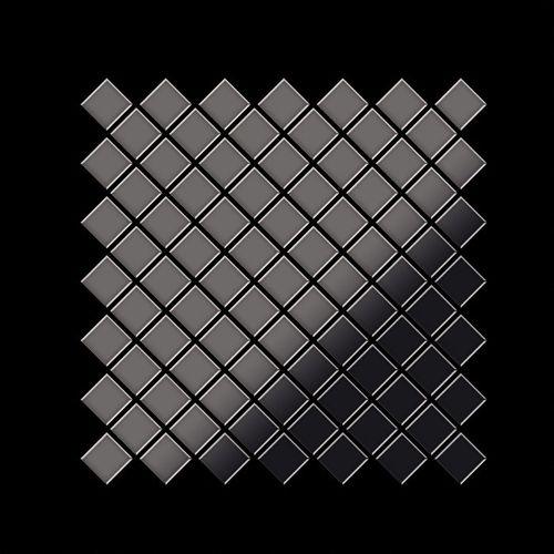 Azulejo mosaico de metal sólido Titanio Smoke espejo gris oscuro 1,6 mm de grosor ALLOY Diamond-Ti-SM 0,91 m2 – Imagen 3