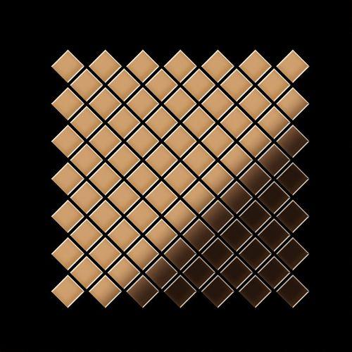 Mosaik Fliese massiv Metall Kupfer gewalzt in kupfer 1,6mm stark ALLOY Diamond-CM 0,91 m2 – Bild 3