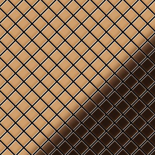 Mosaïque métal massif Carrelage Cuivre laminé cuivre Grosseur 1,6mm ALLOY Diamond-CM 0,91 m2 – Bild 1