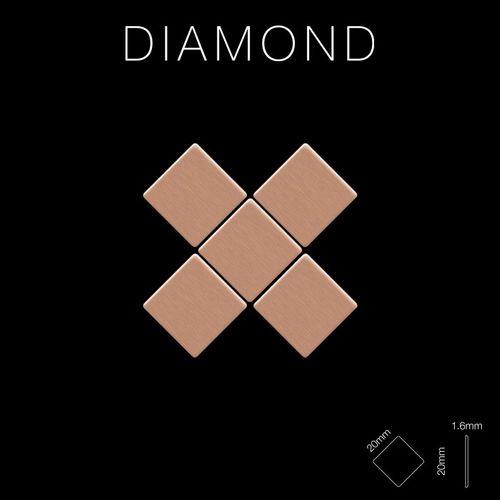 Mosaïque métal massif Carrelage Cuivre laminé cuivre Grosseur 1,6mm ALLOY Diamond-CM 0,91 m2 – Bild 2