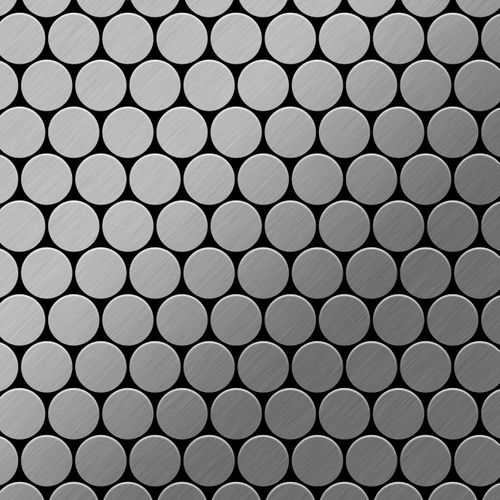 Mosaïque métal massif Carrelage Acier inoxydable brossé gris Grosseur 1,6mm ALLOY Dollar-S-S-B 0,88 m2 – Bild 1