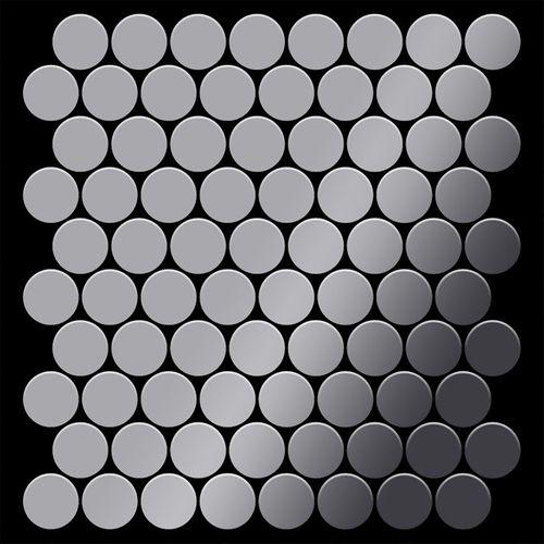 Azulejo mosaico de metal sólido Acero inoxidable pulido espejo gris 1,6 mm de grosor ALLOY Dollar-S-S-M 0,88 m2 – Imagen 3