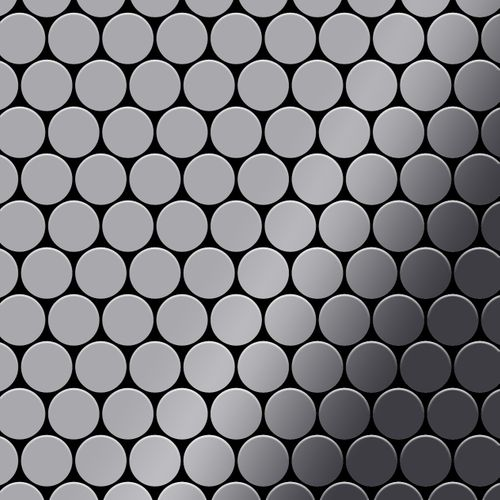 Mosaik Fliese massiv Metall Edelstahl hochglänzend in grau 1,6mm stark ALLOY Dollar-S-S-M 0,88 m2 – Bild 1