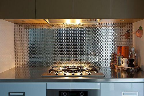 Mosaik Fliese massiv Metall Edelstahl hochglänzend in grau 1,6mm stark ALLOY Dollar-S-S-M 0,88 m2 – Bild 4