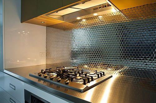 Mosaik Fliese massiv Metall Edelstahl hochglänzend in grau 1,6mm stark ALLOY Dollar-S-S-M 0,88 m2 – Bild 6