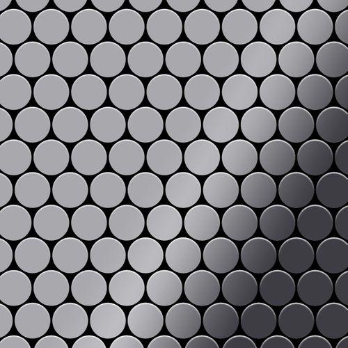 Mozaïektegels massief metaal roestvrij staal Marine hoogglanzend grijs 1,6 mm dik ALLOY Dollar-S-S-MM  – Bild 1