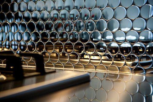 Mozaïektegels massief metaal roestvrij staal Marine hoogglanzend grijs 1,6 mm dik ALLOY Dollar-S-S-MM  – Bild 5