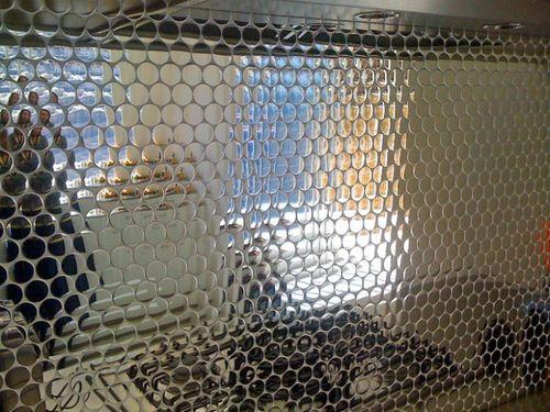 Azulejo mosaico de metal sólido Acero inoxidable Marine pulido espejo gris 1,6 mm de grosor ALLOY Dollar-S-S-MM 0,88 m2 – Imagen 7