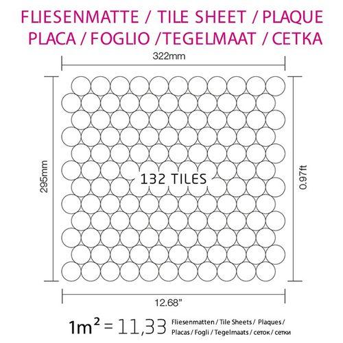 Azulejo mosaico de metal sólido Acero inoxidable Marine cepillado gris 1,6 mm de grosor ALLOY Dollar-S-S-MB 0,88 m2 – Imagen 4