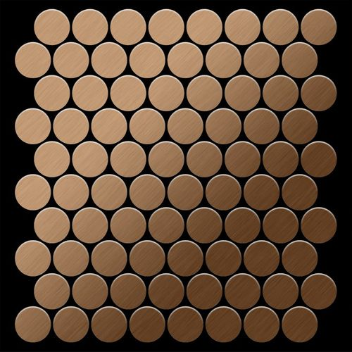 Mosaïque métal massif Carrelage Titane brossé Amber cuivre Grosseur 1,6mm ALLOY Dollar-Ti-AB 0,88 m2 – Bild 3