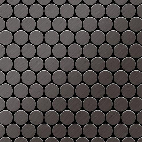 Mosaico metallo solido Titanio spazzolato Smoke grigio scuro spesso 1,6 mm ALLOY Dollar-Ti-SB – Bild 1