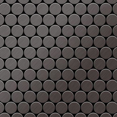 Mosaïque métal massif Carrelage Titane brossé Smoke gris foncé Grosseur 1,6mm ALLOY Dollar-Ti-SB 0,88 m2 – Bild 1