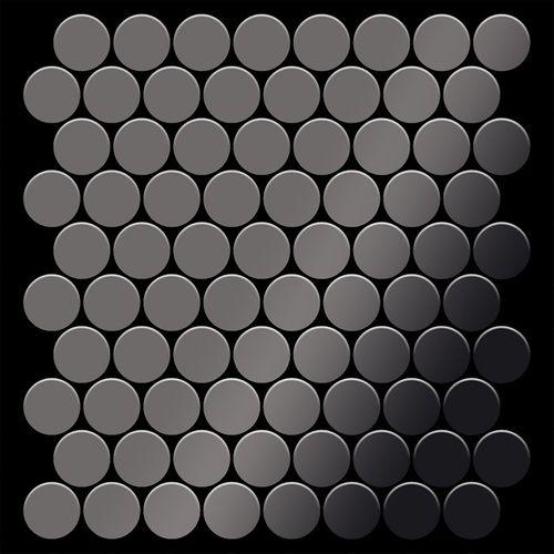Mosaico metallo solido Titanio specchiato Smoke grigio scuro spesso 1,6 mm ALLOY Dollar-Ti-SM – Bild 3