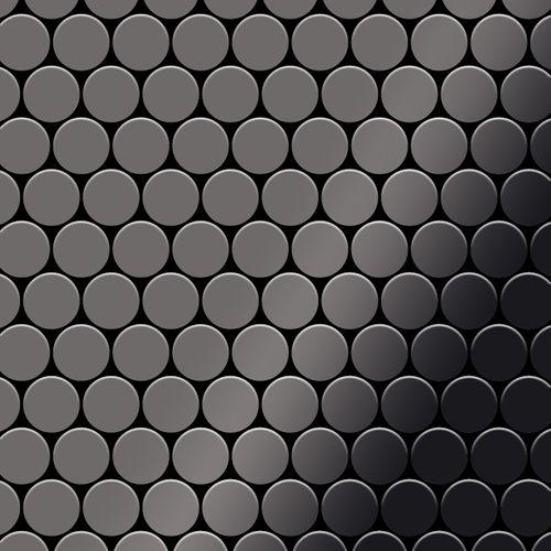 Mosaico metallo solido Titanio specchiato Smoke grigio scuro spesso 1,6 mm ALLOY Dollar-Ti-SM – Bild 1