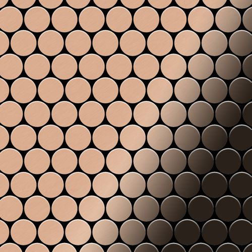 Mosaïque métal massif Carrelage Cuivre laminé cuivre Grosseur 1,6mm ALLOY Dollar-CM 0,88 m2 – Bild 1