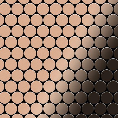 Mosaik Fliese massiv Metall Kupfer gewalzt in kupfer 1,6mm stark ALLOY Dollar-CM 0,88 m2 – Bild 1