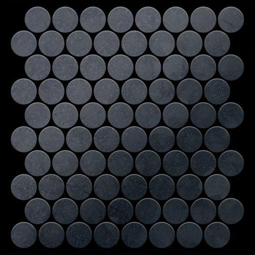 Azulejo mosaico de metal sólido Acero bruto laminado gris oscuro 1,6 mm de grosor ALLOY Dollar-RS 0,88 m2 – Imagen 3