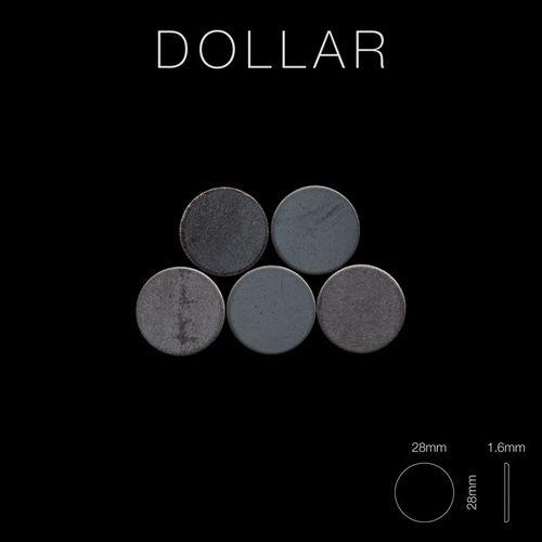 Mozaïektegels massief metaal gewalst ruw staal grijs 1,6 mm dik ALLOY Dollar-RS – Bild 2