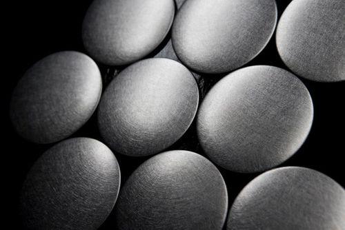 Mosaico metallo solido Acciaio inossidabile spazzolato grigio spesso 1,6 mm ALLOY Dome-S-S-B – Bild 4