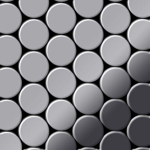 Mosaico metallo solido Acciaio inossidabile specchiato grigio spesso 1,6 mm ALLOY Dome-S-S-M – Bild 1