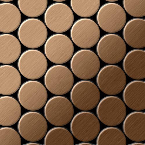 Mosaico metallo solido Titanio spazzolato Amber rame spesso 1,6 mm ALLOY Dome-Ti-AB – Bild 1
