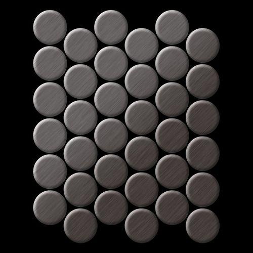 Mosaico metallo solido Titanio spazzolato Smoke grigio scuro spesso 1,6 mm ALLOY Dome-Ti-SB – Bild 3